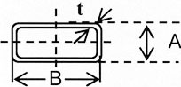 Square Rectangular Hollow Pipe Diagram
