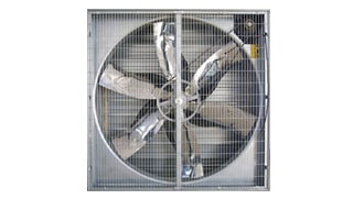 6 Blade Box Fan with Wire Netting
