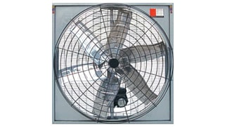 Econo 6 Blade Hanging Fan with Powder Coated Netting